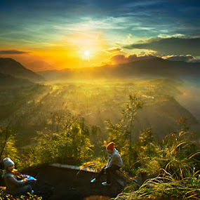 Good morning by Mpe'- Indra Prameswara - Landscapes Mountains & Hills
