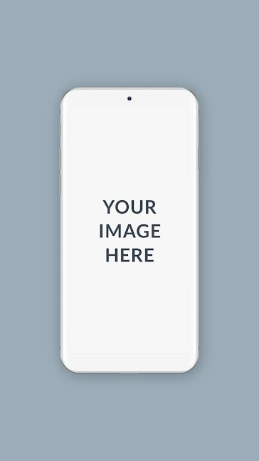 Cool Tone Phone Mockup - Facebook Story template