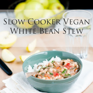 Slow Cooker Vegan White Bean Stew.