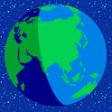 時刻と共に変わっていく地球 icon