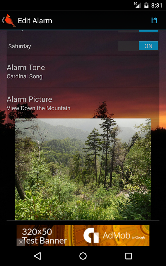 Woodland Alarm Clock- screenshot