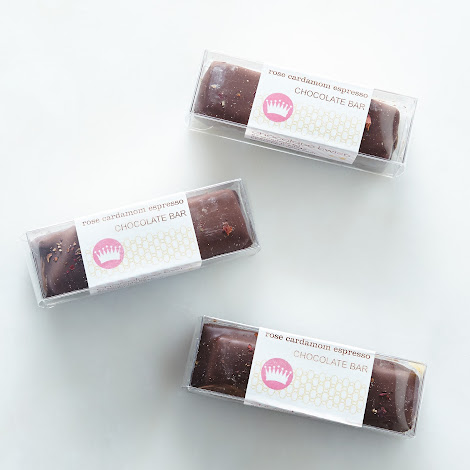 Rose Cardamom Espresso Chocolate Bars (Pack of 3)