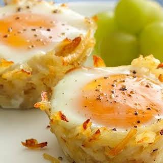 Eggs in Potato Basket.