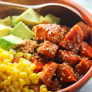 Sriracha Chicken and Avocado Bowl.