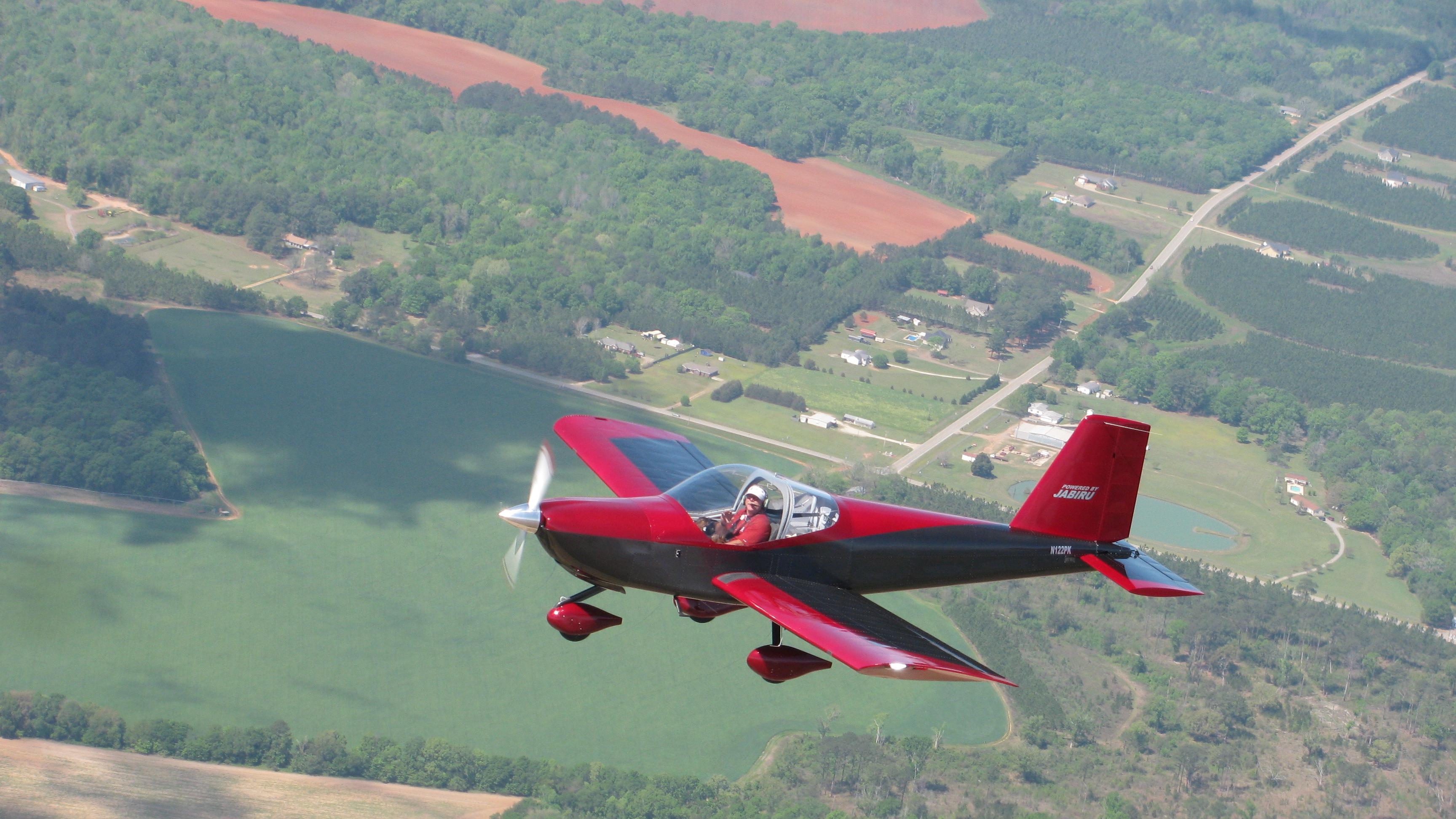 Photo: Pete's RV-12 flying to Sun 'n Fun 2012, where it won Grand Champion LSA.