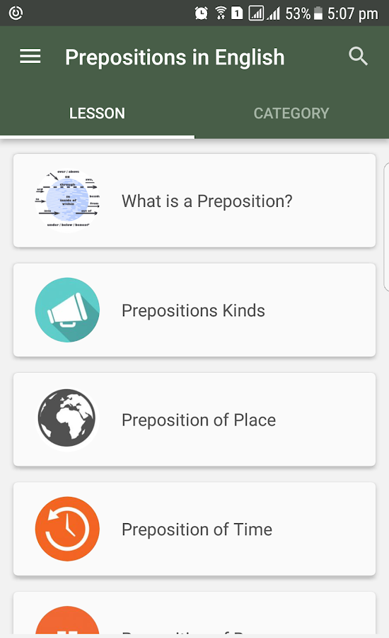 English Grammar- Preposition- screenshot