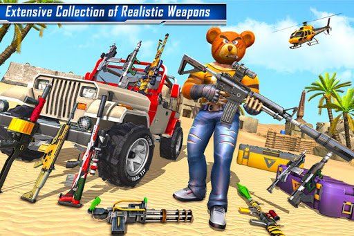 Teddy Bear Gun Strike Game: Counter Shooting Games apkmr screenshots 1