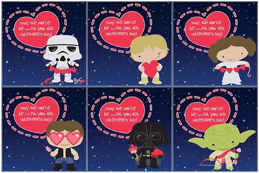 Download these FREE Printable Star Wars inspired Valentine's Day Cards!