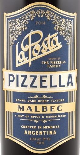 Logo for La Posta Pizzella Family Vineyard Malbec