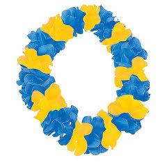 Hawaiikrans, blå/gul