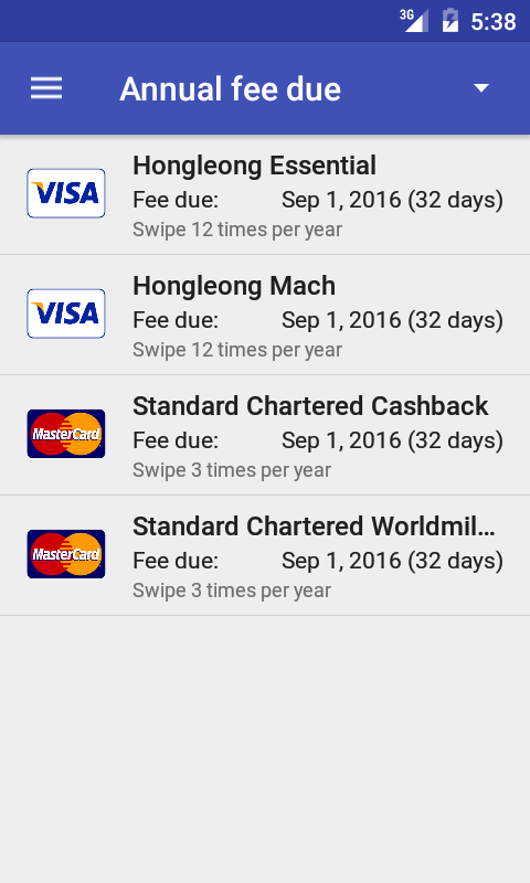 Credit Card Manager Pro- screenshot