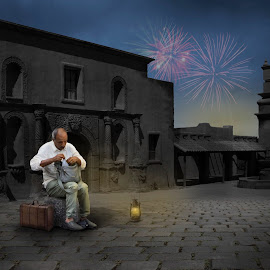 Not my Party by Frank Quax - Digital Art People ( firework, hotel, photoshop, manipulation, creative, editing )