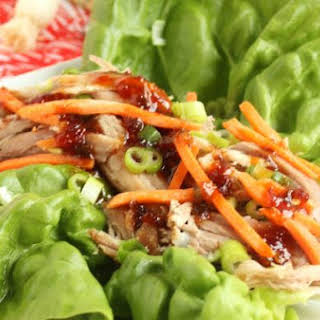 Slow Cooker Kahlua Pork with Sweet Chili Pineapple Sauce.