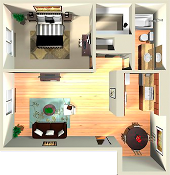 Go to 1x1 Large Floor Plan page.