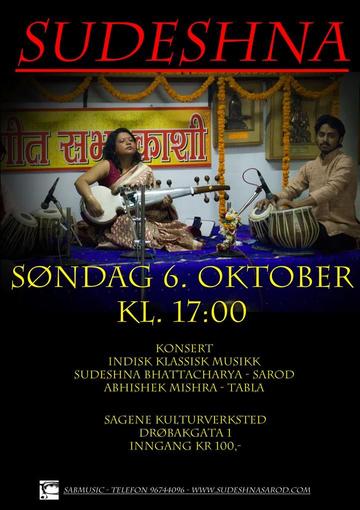 Photo: Sudeshna Bhattacharya - Sarod - Oslo 6. October 2013 - sabART