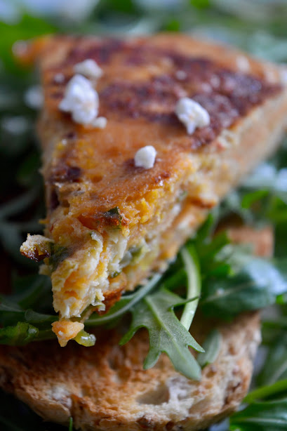 sweet potato tortilla with feta safranaargana