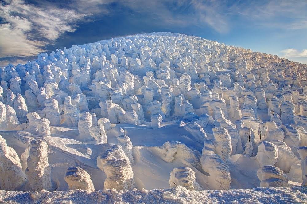 Juhyo, os monstros de neve do Monte Zao