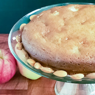 Pan Seared Apple Almond Cake