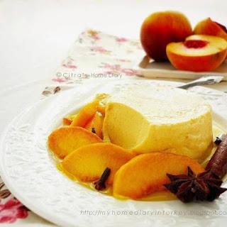 Summer Peach Cream cheese panna cotta.