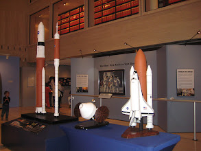 Photo: NASA current and future space craft and rocket booster models