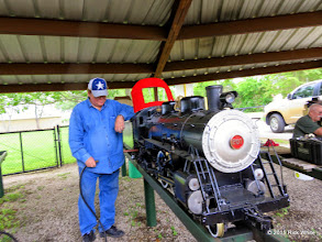 Photo: Pete Greene getting his Atlantic ready to run for public run day in 7 days.    HALS Work Day 2015-0411 RPW