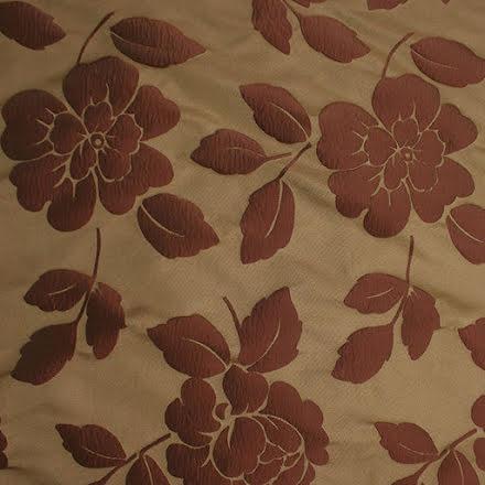 Blomma Jacquard - guld/röd