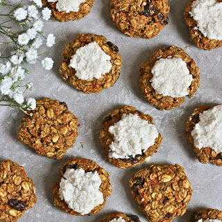 Mini Carrot Cake Oatmeal Cookies