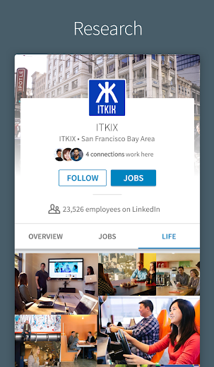 Screenshot 4 for LinkedIn's Android app'
