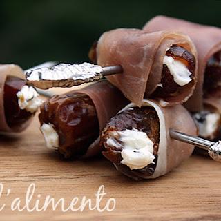 Datteri Ripieni {Cheese stuffed dates with Prosciutto}