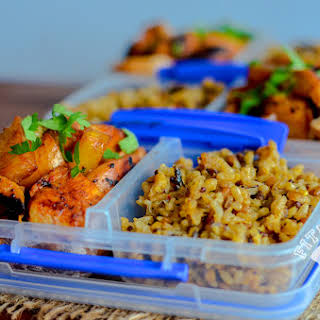 Pineapple Chicken with Savory Brown Rice.