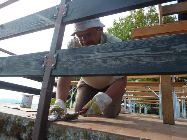 Bojanje ograde na terasi pl. doma Žitnica