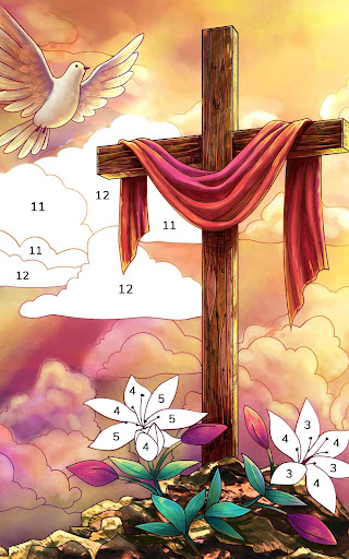 Bible Coloring - Paint by Number, Free Bible Games 2.5.3 screenshots 10