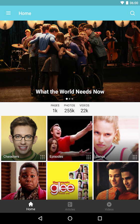 Fandom: Glee- screenshot