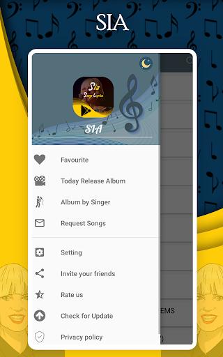 Music Player - SIA All Songs Lyrics ss1