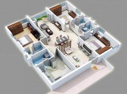 Domů 3D nápady interiéru