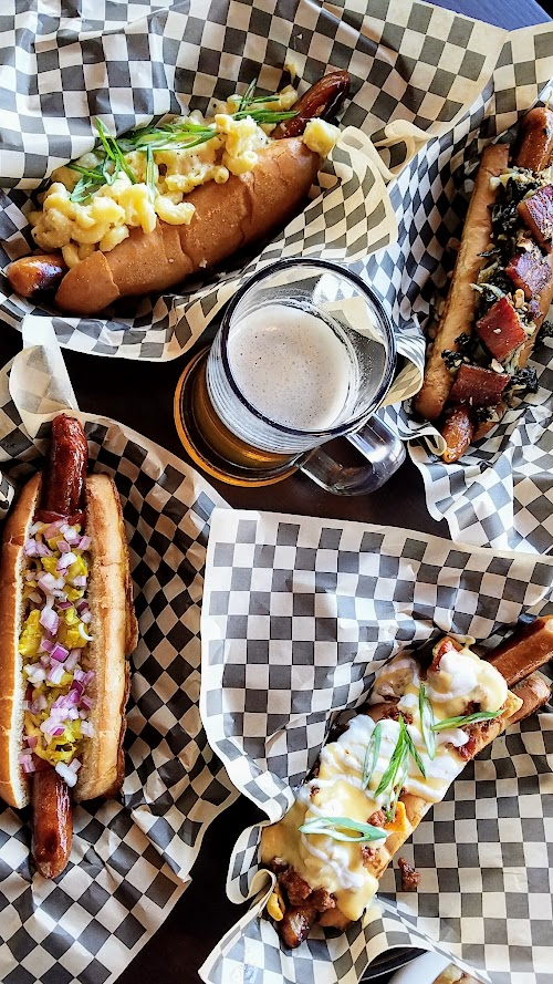 OP Wurst on SE Division, several of their gourmet haute hot dogs