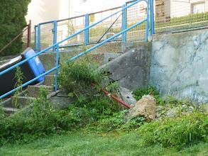 Photo: die brüchige bisherige Treppe