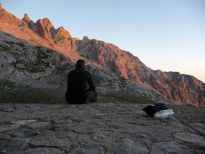 Photo: Desde el refugio contemplando enfrente la diagonal anterior a la Brecha de los Cazadores