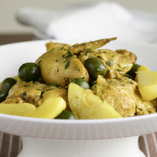 Lemon Chicken and Green Olive Tagine