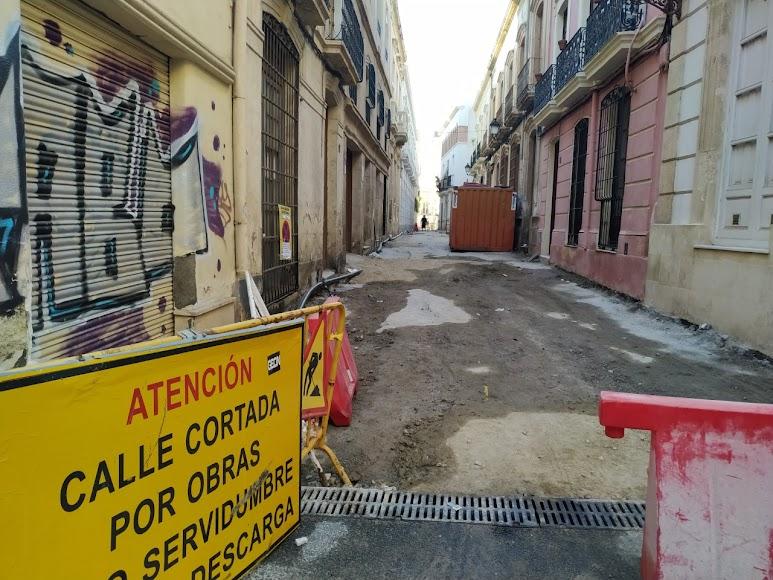 Calle Emilio Ferrera en proceso de obras