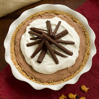 French Silk Pie in Pretzel Crust