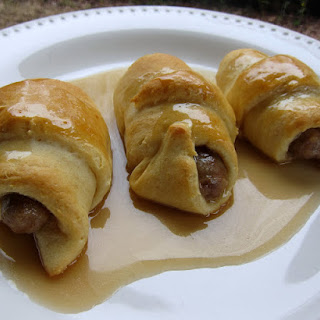 Sausage Roll Ups with Buttermilk Syrup.