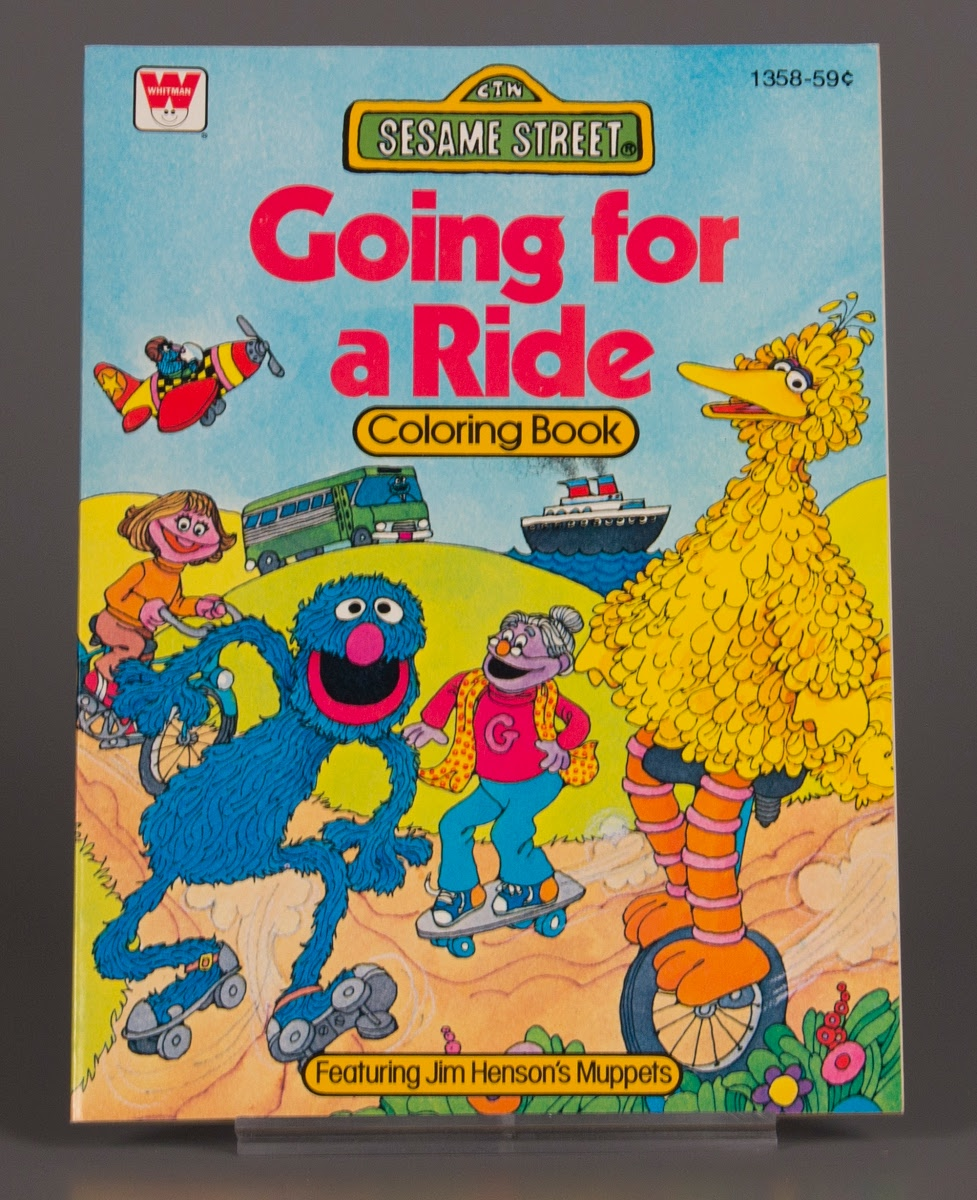 Coloring book:Sesame Street Going for a Ride Coloring Book ...
