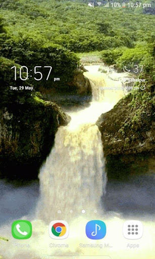 Valley Waterfall Live Wallpaper