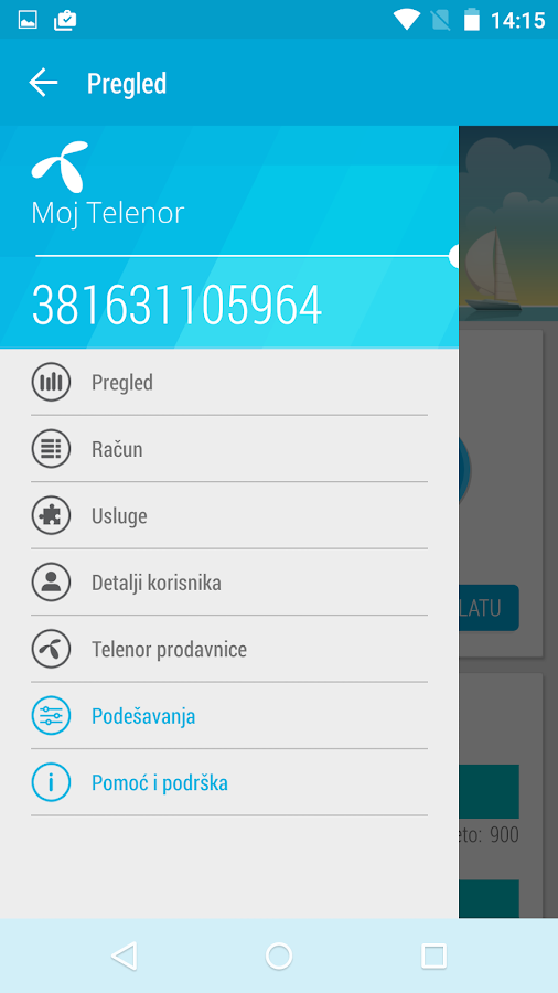 Moj Telenor- screenshot