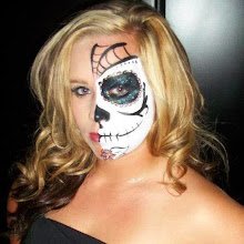 Photo: Sugar Skull day of the dead Face painting by Sofia, , Ca 888-750-7024