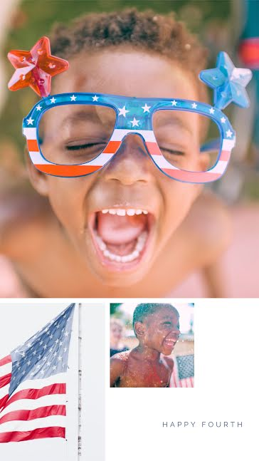 Happy Fourth Kiddo - Facebook Story template