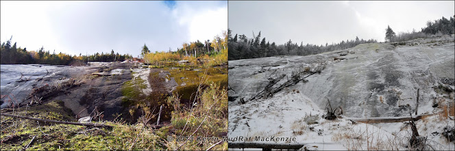 Photo: Seasonal comparison at the footwall of the Skinny Slide.