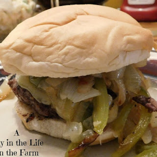 Philly Cheesesteak Burgers Recipe