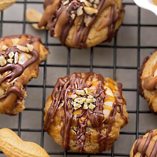 Snickers Thumbprint Cookies